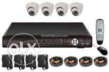 4 security cam + dvr + all accessories AHD