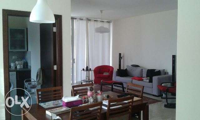 AMH175, Furnished apartment for rent in Achrafieh, 125 sqm, 5th floor.