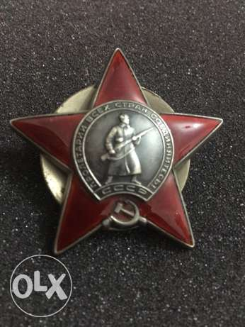 Soviet order of the red star. Solid silver and enamel.