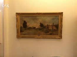 Old 50years oil painting very good condition