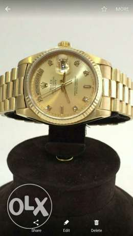 Rolex original daydate full gold with box anad guarantie one years