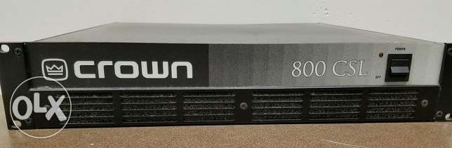 crown amplifier 800csl ampli power