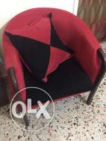 sofa - Black and red - 4 pieces