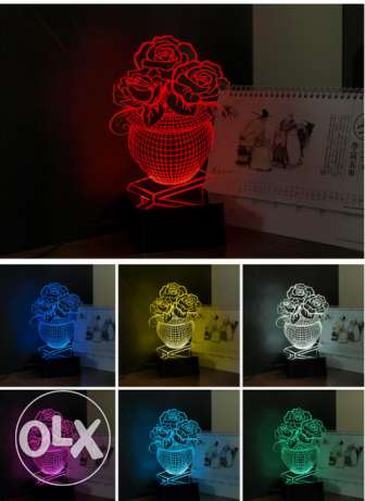 Night Lamps 3D 7 colours changing best gift