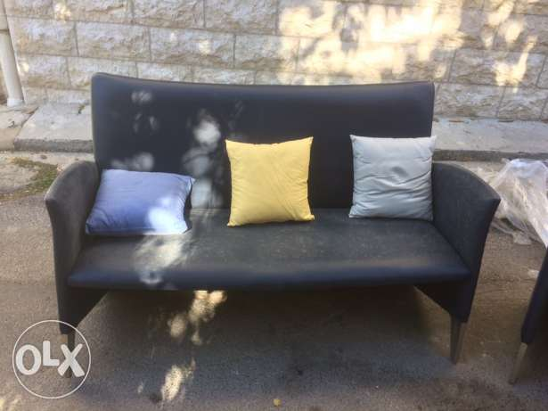 leather sofa and feauteuil الشوف -  2