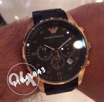 Genuine Black matte and rose gold EA watch for him