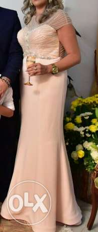 Long dress. Light pink
