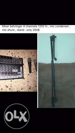 mixer, microhphones and others . full package