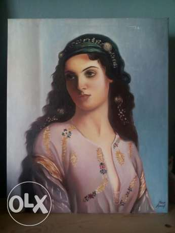 Oil painting on canvas الشياح -  1