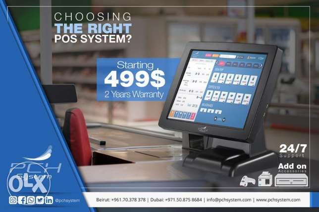 Point of sale (POS) for restaurant, retail and grocery.