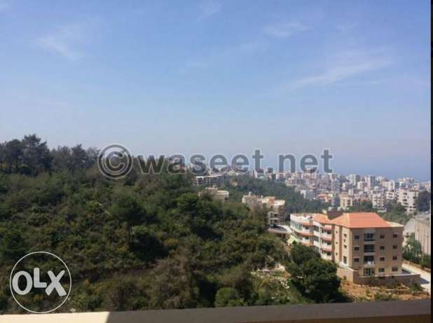 Apartment for sale in a quiet area in bchamoun with a terrace and view بشامون -  1
