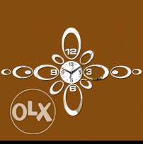 Wall clock acrylic mirror quartz watch 3d stickers decorative clock