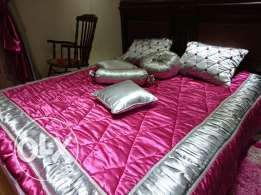 Bed cover with curtain and carpet for sale