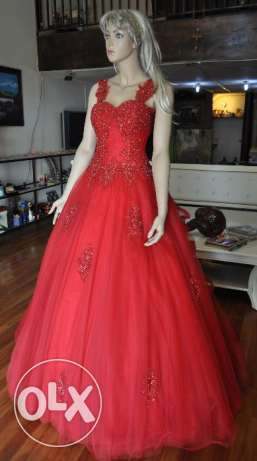 Red Evening Gown - Suitable for Maid of Honour - Sample Sale