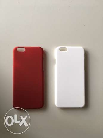 iphone 6/6s covers red and white not used