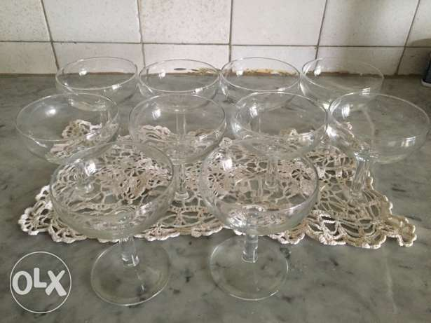 10 glasses crystal d'arc for wine