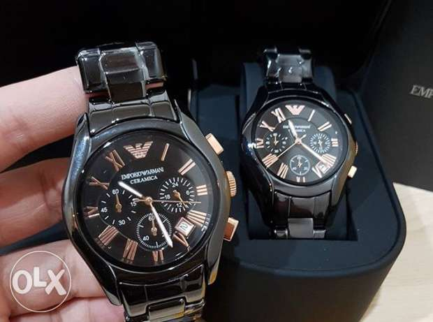 Classy Twin Emporio Ceramica couples gift watch for a crazy offer