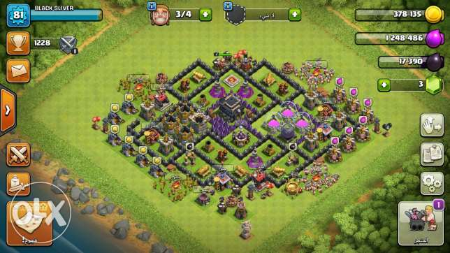 Clach of clans town hall 9 ليست ماكس