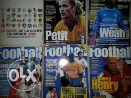 Old footbal magazines