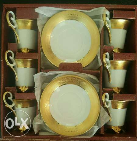 Coffee set Gold collection#24 CT Gold plated#new not used#for 120$ زلقا -  4