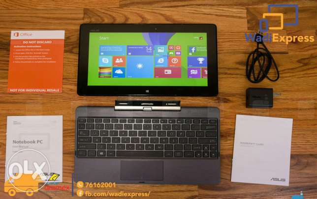 Asus 2 in 1 !!! New !! 10 inch With hdmi W vga !!! الفربدة من نوعها