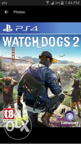 Need watchdogs 2 ps4 I want to pay 40$ انطلياس -  1