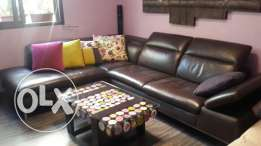 Leather sofa by kouka (used for few months, movable mechanism)