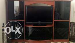 Vitrine with table TV in a very good condition