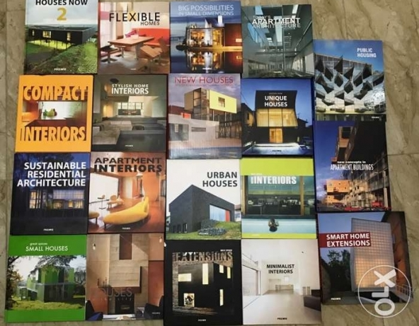 architecture&interior encyclopedia only at 500$(19 books)