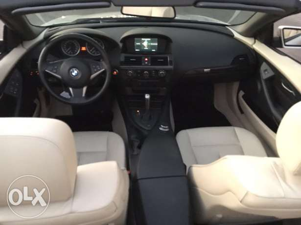 BMW 650i 2007 convertible like new الروشة -  7