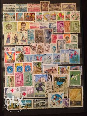 150 used Lebanon stamps أشرفية -  2