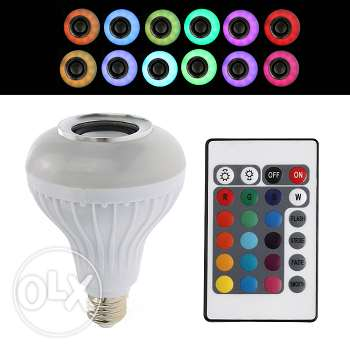 LED colorful remote-controlled bulb + bluetooth speaker (4 photos) فرن الشباك -  4