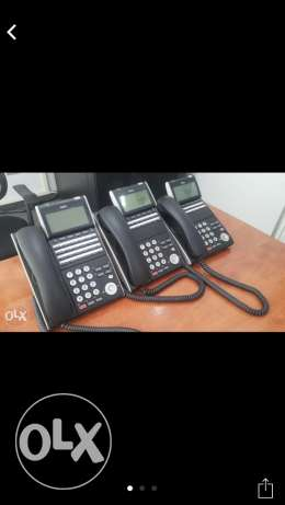 central Nec Sv9100 E +3 ip phones+hp panel سنترال