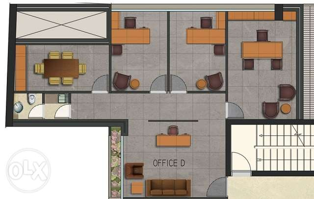 MK895,Under construction office for sale in Sanayeh,127sqm, 4th Floor.
