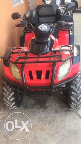atv 550cc red color