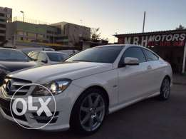 Mercedes C250 Coupe 2012 White/Black Top of the Line Like New!