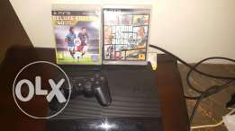 Ps3 with 2 cds.