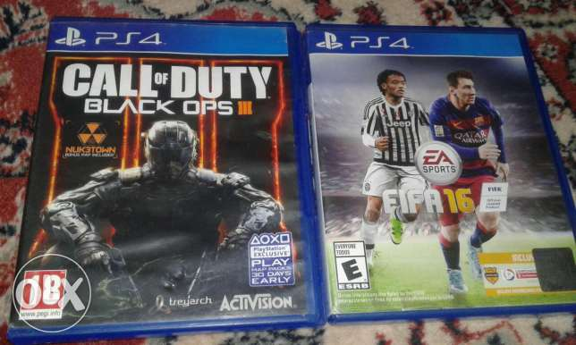Cod bo3 and fifa 16 for sale
