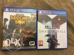 KILLZONE:shadow fall+second son for trade or sale!Super clean like new