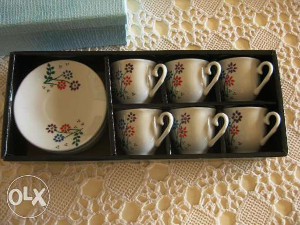 6 beautiful handmade cups 40$ instead of 80$ جديدة -  1