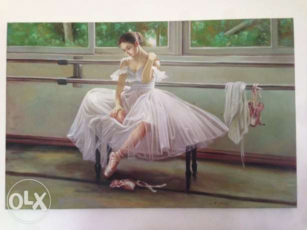 Hand painted ballerina