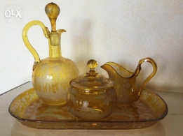 Bohemia tea set pots with tray