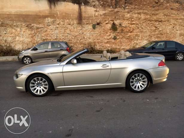 BMW 650i 2007 convertible like new الروشة -  5