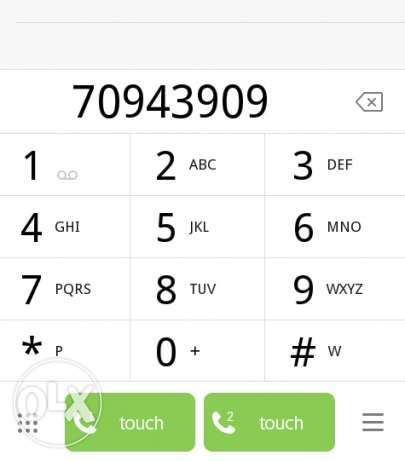 Touch phone Number