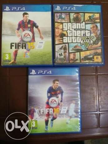 3 cds ps4 for sale حارة حريك -  1