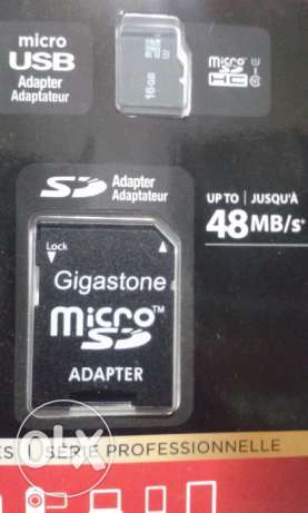 GIGASTONE 16GB 4-IN-1 Mobile Kit Class 10 Micro SD with SD & USB Adapt حازمية -  4