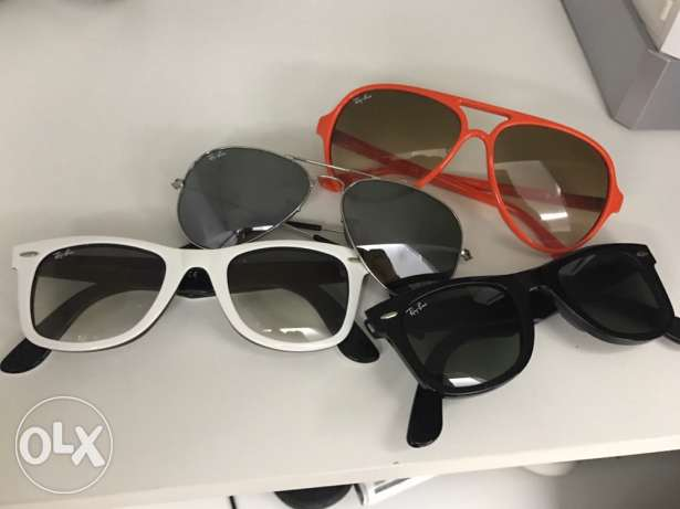 4 authentic rayban sunglasses for 300$ NEGOTIABLE