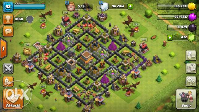 clash of clans base town hall 8 max