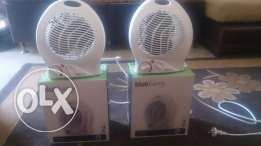 2 Verry clean like new used for one time 2 bluberry heaters with fan