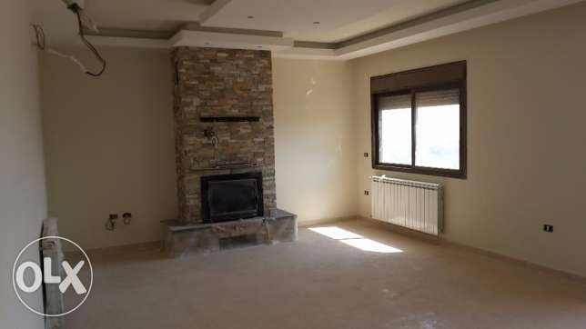 Zahle brand new fully decorated apartment with open view for sale .